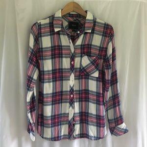 Rails button down shirt hunter plaid small